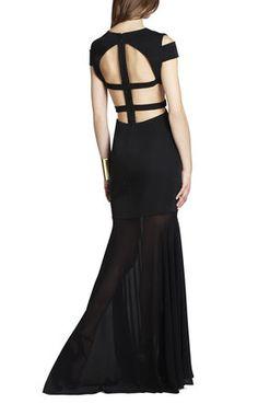 Solace london irving black dress