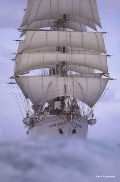 Great looking ship!! . The 316' Sea Cloud, built in 1931, was the largest private yacht ever built at the time.