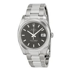 Rolex Oyster Perpetual Date Stainless Steel Black Dial Watch 115200BKSO
