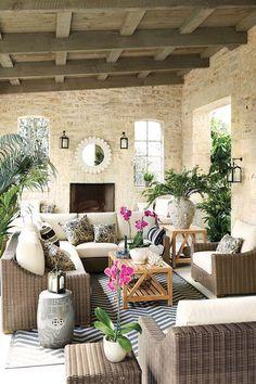 Covered porch with Ballard Designs Sutton ... - #gardens #gardening #garden #landscaping #diy http://gardeningdreams.xyz/covered-porch-with-ballard-designs-sutton-collection-outdoor-furniture/…