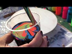 Acrylic Pouring with Ikea Neon paints. WD40 used to make cells. Everything went wrongPour from hell - YouTube