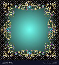Background frame with jewels of gold ornaments vector image on VectorStock Powerpoint Background Design, Background Design Vector, Frame Background, Editing Background, Background Templates, Background Images, Christian Backgrounds, Presentation Backgrounds, Gold Ornaments