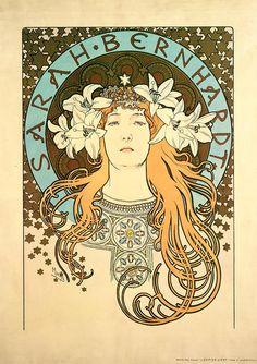 Alphonse Mucha - Sarah Bernhardt as La Princesse Lointaine: Poster for La Plume magazine / Alphonse Mucha: In Quest of Beauty / Exhibitions
