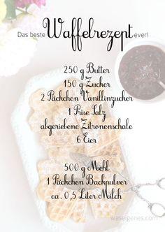 Rezept: Das beste Waffelrezept ever! - Rezept: Das beste Waffelrezept ever! Rezept: Das beste Waffelrezept ever Best Waffle Recipe, Waffle Recipes, Brunch Recipes, Sweet Recipes, Baking Recipes, Dessert Recipes, Bread Recipes, Cake Recipes, Chicken Recipes