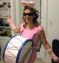 diy costumes for women | DIY Energizer Bunny Costume / womens apparel - Juxtapost