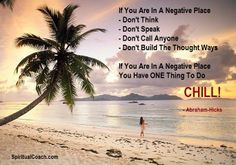 To stop a negative momentum: chill, meditate or take a nap! When you are relaxed, focus ONLY on what you want: http://www.spiritualcoach.com/law-of-attraction/focus-on-the-answer/ #loa #abe #abrahamhicks