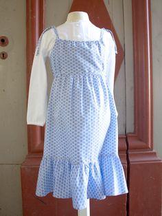 Barnklänning blå axelband - Barnkläder - 100 years