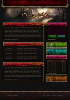 Red/Gold Fantasy Web Design Metin2 by x3BuRn3R