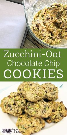 Cookies Recipe: Homemade Zucchini-Oat Chocolate Chip Cookies Need an easy and delicious way to sneak vegetables into your picky eater's diet? Put your summer zucchini to good use and whip up a batch of these yummy zucchini-oat chocolate chip cookies. Zucchini Cookie Recipes, Zuchinni Recipes, Recipe Zucchini, Zucchini Oatmeal Cookies, Healthy Zucchini Cookies, Zucchini Desserts, Healthy Breakfast Cookies, Shredded Zucchini Recipes, Zucchini Muffins