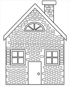 Brick House Coloring Page