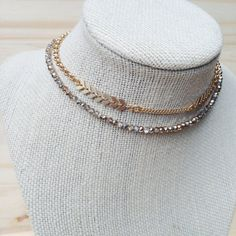 Gold Gypsy Chain Choker/ Collar Neckpiece / Layer by mgdydesign