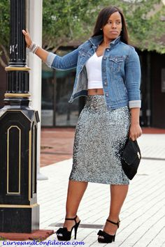 9e46cc7ccc3 Weekend Wear  Denim and Sequins - Curves and Confidence