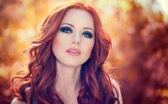 redhead model bokeh portrait wallpaper x by Ilyes Ezio Auditore on 500px