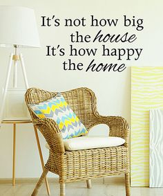 Another great find on #zulily! 'It's Not How Big' Wall Decal #zulilyfinds