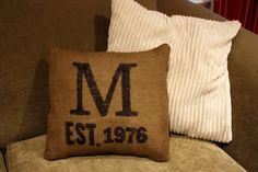 Burlap and sharpie!