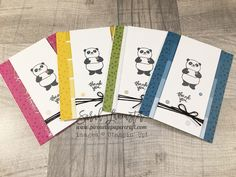 Party Pandas from Stampin' Up! | Sarah Lancaster - you can earn this stamp set for free during Sale.a.bration starting 2nd Jan 2018