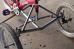 Adaptive Tadpole Trike - Bisiklet - Design de Carros e Motocicletas Tricycle Bike, Trike Bicycle, Motorized Bicycle, Bici Retro, Three Wheel Bicycle, Velo Cargo, Reverse Trike, Push Bikes, Drift Trike