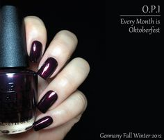 OPI Every Month is Oktoberfest Fashion Polish: Opi Germany collection for Fall Winter 2012 : Part 2