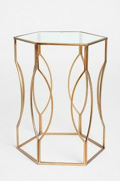 Hexagon Side Table - modern - side tables and accent tables - Urban Outfitters
