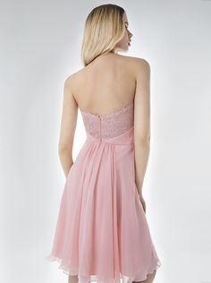 dc883dbcbe91 Short evening strapless dress with beaded bust. Mikael Evening Dresses · Cocktail  Dresses 2016