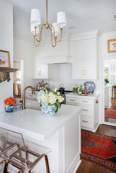 This kitchen may be on the tiny side, but it's packed with upgrades, starting with new cabinetry t. Farmhouse Style Kitchen, Modern Farmhouse Kitchens, New Kitchen, Home Kitchens, Kitchen Dining, Kitchen Decor, Kitchen Ideas, Awesome Kitchen, Kitchen Layout