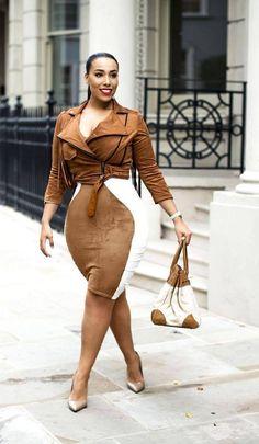"Plus Size And Curvy Fashion Jacket: ashantibrazil , Skirt: Boohoo , Bag: Hermes , Shoes: Kurt Geiger Fashion By Laila Loves "" Curvy Women Fashion, Plus Size Fashion, Womens Fashion, Curvy Outfits, Plus Size Outfits, Plus Sise, Modelos Plus Size, Full Figured Women, Beautiful Black Women"