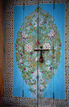 Morocco- Favorite door in the best garden ever! <3