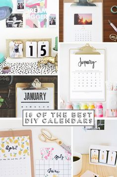 Desk Calendar for 2016 // Download our free printable calendar ...