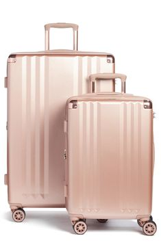 outfit plus size Calpak Ambeur Spinner Luggage Set - Black Calpak Ambeur Spinner-Gepäckset - Pink Calpak Luggage, Cute Luggage, Carry On Luggage, Luggage Sets, Travel Luggage, Travel Bags, Luggage Online, Pink Luggage, Travel Ideas