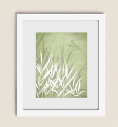 Sage Green Gr Dragonfly Wall Print Nature Living Room Decor Home
