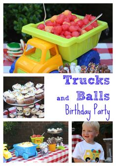 Trucks and Balls Birthday Party | Perfect for little boys! http://www.restlessarrow.com/2013/06/28/truck-on-over-and-have-a-ball/