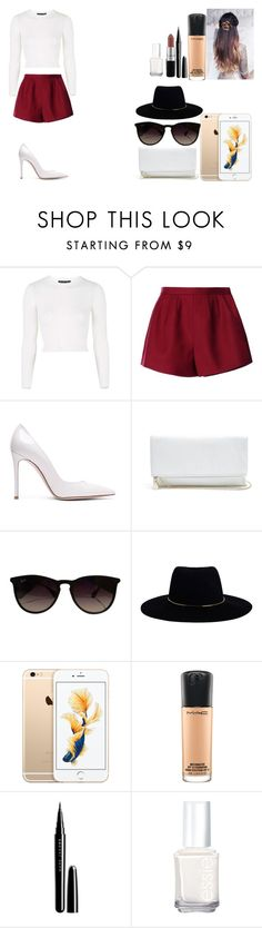 """Untitled #421"" by kalieh092 on Polyvore featuring Topshop, RED Valentino, Gianvito Rossi, GUESS, Ray-Ban, Zimmermann, MAC Cosmetics, Marc Jacobs and Essie"