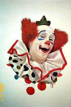 "The art of jim howle "" wayne "" signed / limited print # Joker Clown, Le Clown, Circus Clown, Creepy Clown, Dark Fantasy Art, Boris Vallejo, Royal Ballet, Clown Images, Clown Pics"