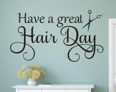 Hair salon wall decor ideas
