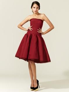 Silk Faille Strapless Full Skirted Dress by Zac Posen on Gilt.com
