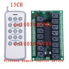 Free Shipping 12V DC 10A 15CH (channel) RF Wireless Remote Control Power Switch & Remote Control system Receiver &Transmitter