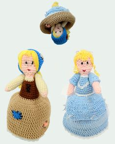 Cinderella Flip Doll Crochet Pattern