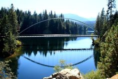 I don't think I'll ever get used to seeing this... but it is pretty cool. Bridge at Lake Siskiyou
