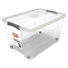 Make storage and organization simple with the Ezy Storage Container . To purchase, and find other affordable Storage Bins, Boxes & Totes, visit your local At Home store. Storage Containers With Wheels, Plastic Box Storage, Plastic Containers, Storage Bins, Affordable Storage, Large Tub, Old Magazines, Craft Materials, At Home Store