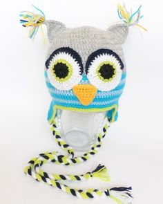 Owl hat crochet hat children hat baby owl by Svetlanababyknitting