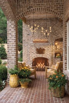 Breezy Porches and Patios From Southern Home and Garden would make a beautiful back porch!From Southern Home and Garden would make a beautiful back porch! Pavillion, Outdoor Rooms, Outdoor Decor, Outdoor Candles, Outdoor Chandelier, Outdoor Patios, Candle Chandelier, Outdoor Living Spaces, Chandeliers