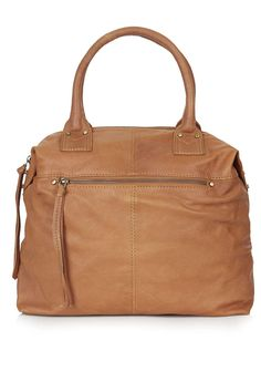 Soft Leather Holdall - Topshop