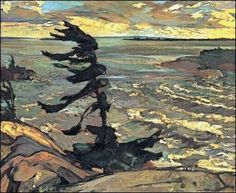 Frederick H. Varley -- Group of Seven, Stormy Weather, Georgian Bay