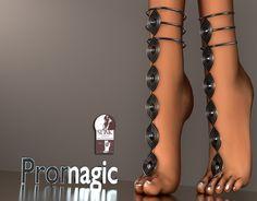 *PROMAGIC* Curvy Me Anklet- Black(Boxed)
