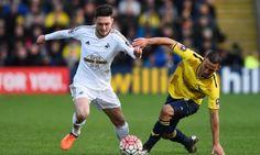 Matt Grimes in action for Swansea