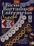 Бразильский журнал вязания крючком. В номере представлены модели вязания каймы и воротничков, сопровождаемые схемами и описанием.