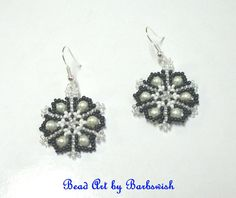 Holiday Fair Black and White  Native American Style by Barbswish, $4.00