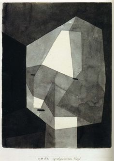 Paul Klee Rough-Cut Head 1935 Ink wash and graphite on paper mounted on cardboard x cm Metropolitan Museum of Art, New York Paul Klee, Art And Illustration, Illustrations, Framed Wall Art, Canvas Wall Art, Kandinsky, Art Abstrait, Art Design, Art Plastique