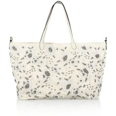 Valentino Embellished leather tote ($1,907) found on Polyvore