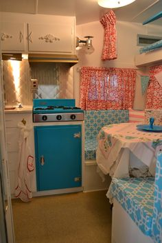 Closet Crafter: 1963 Yellowstone Camper... wow! really great restoration/renovation of this vintage camper! I need a husband like hers that can do so N I of the technical work... or really, just a husband! lol! : )